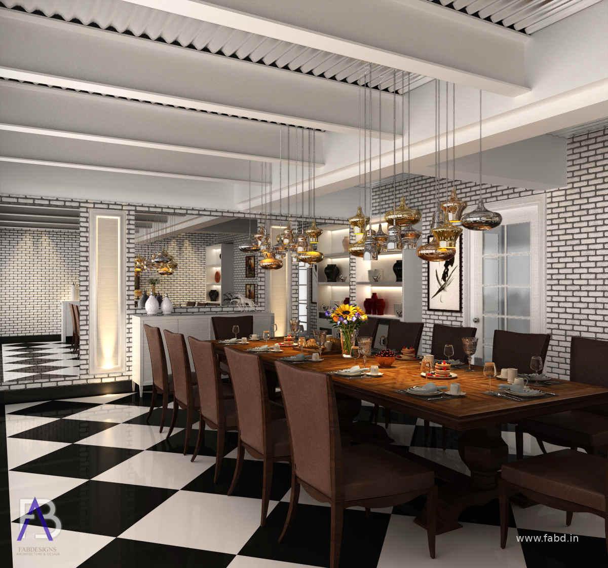 Dining Area Interior Rendeing