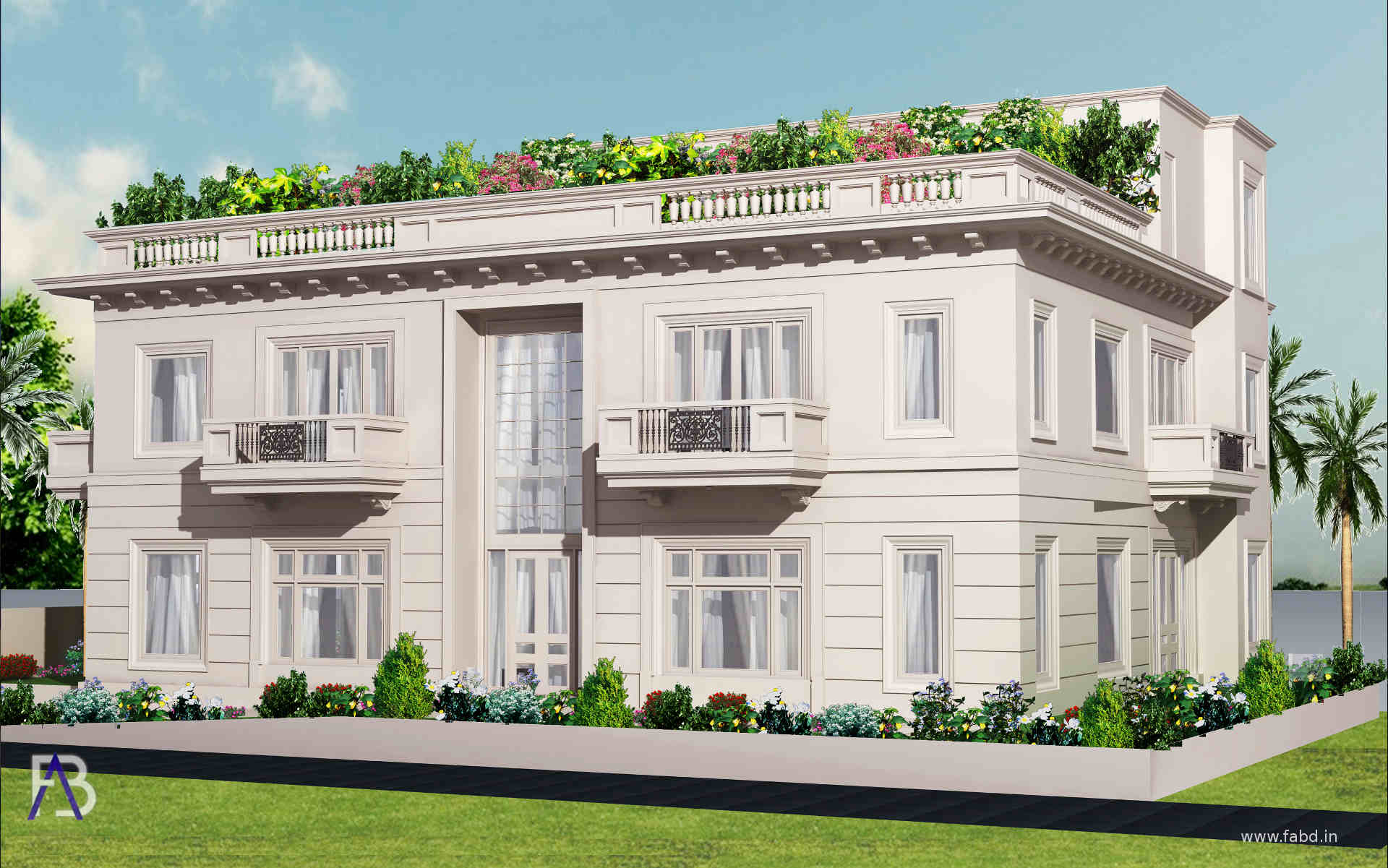 Elevation Side View Day Rendering