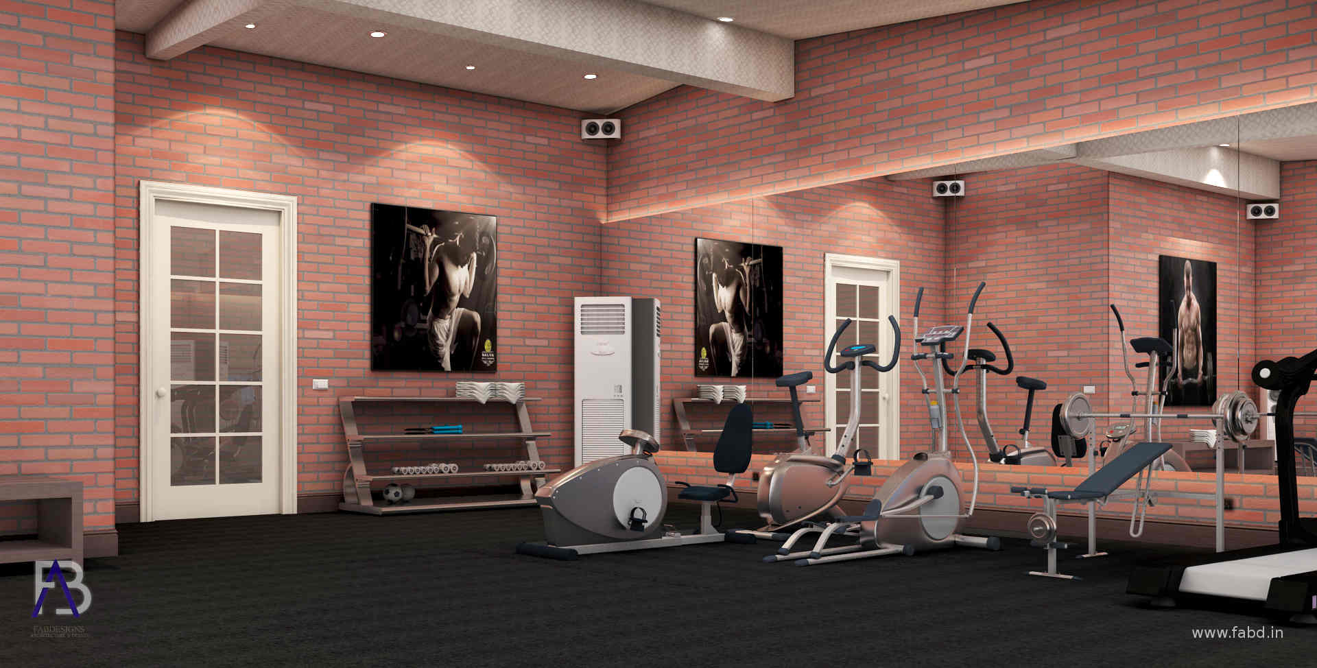 Gym Interior Design Rendering