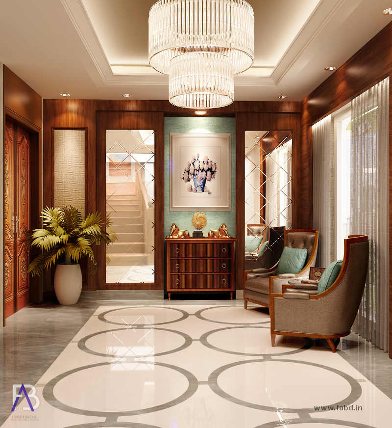 Lobby Area Interior Rendering