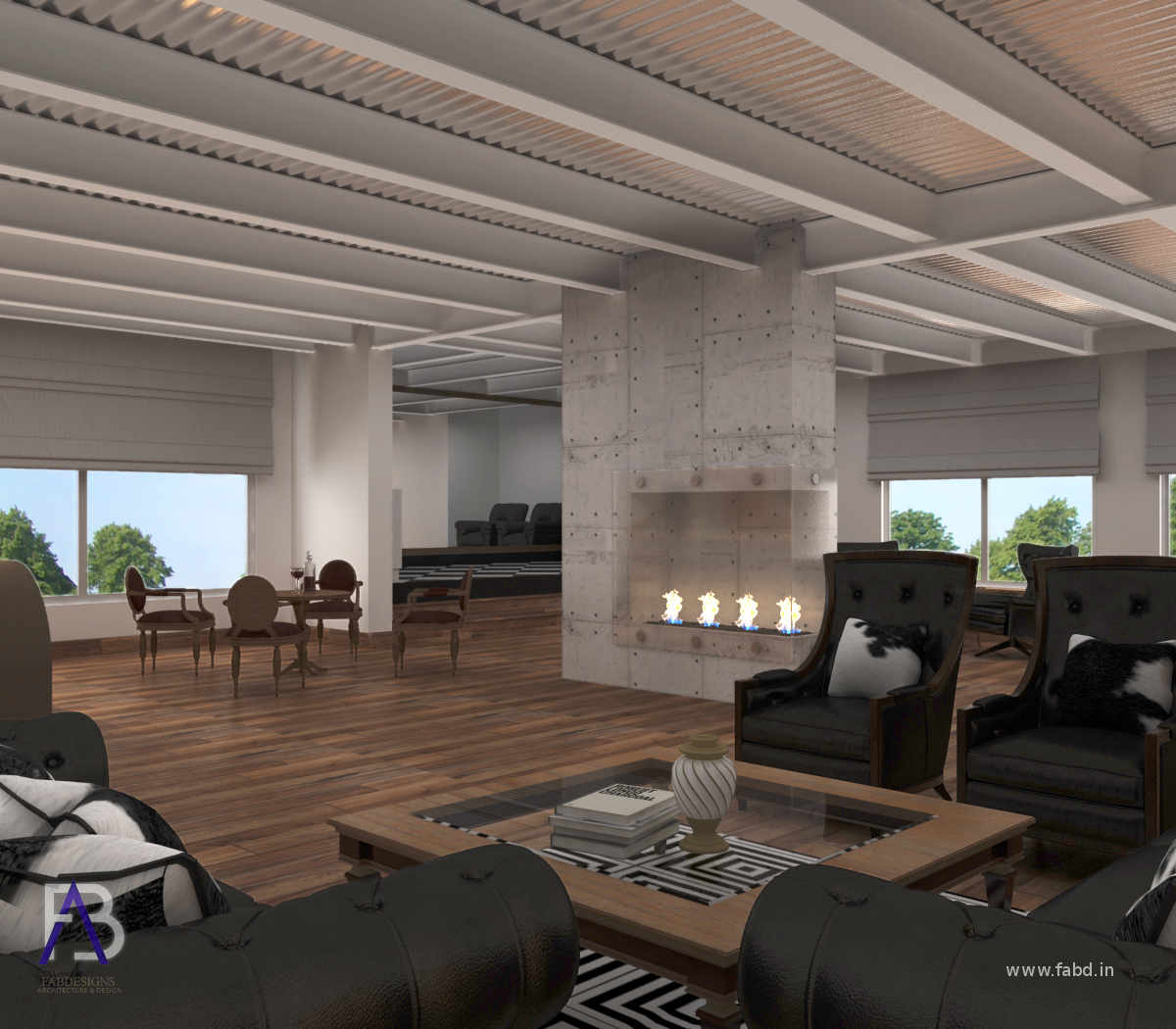 Lounge Area Interior Rendering View 2
