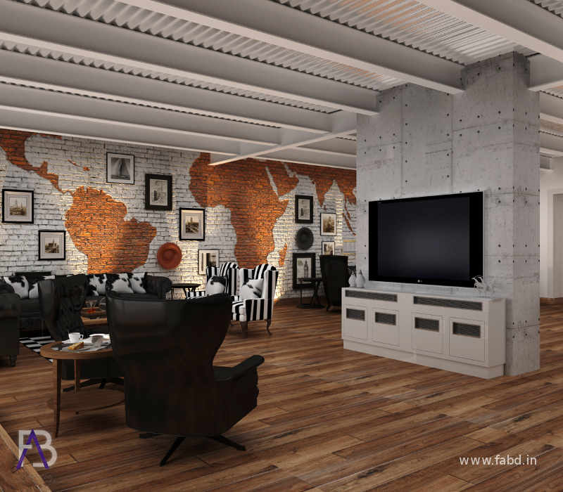 Lounge Area Interior Rendering View 3