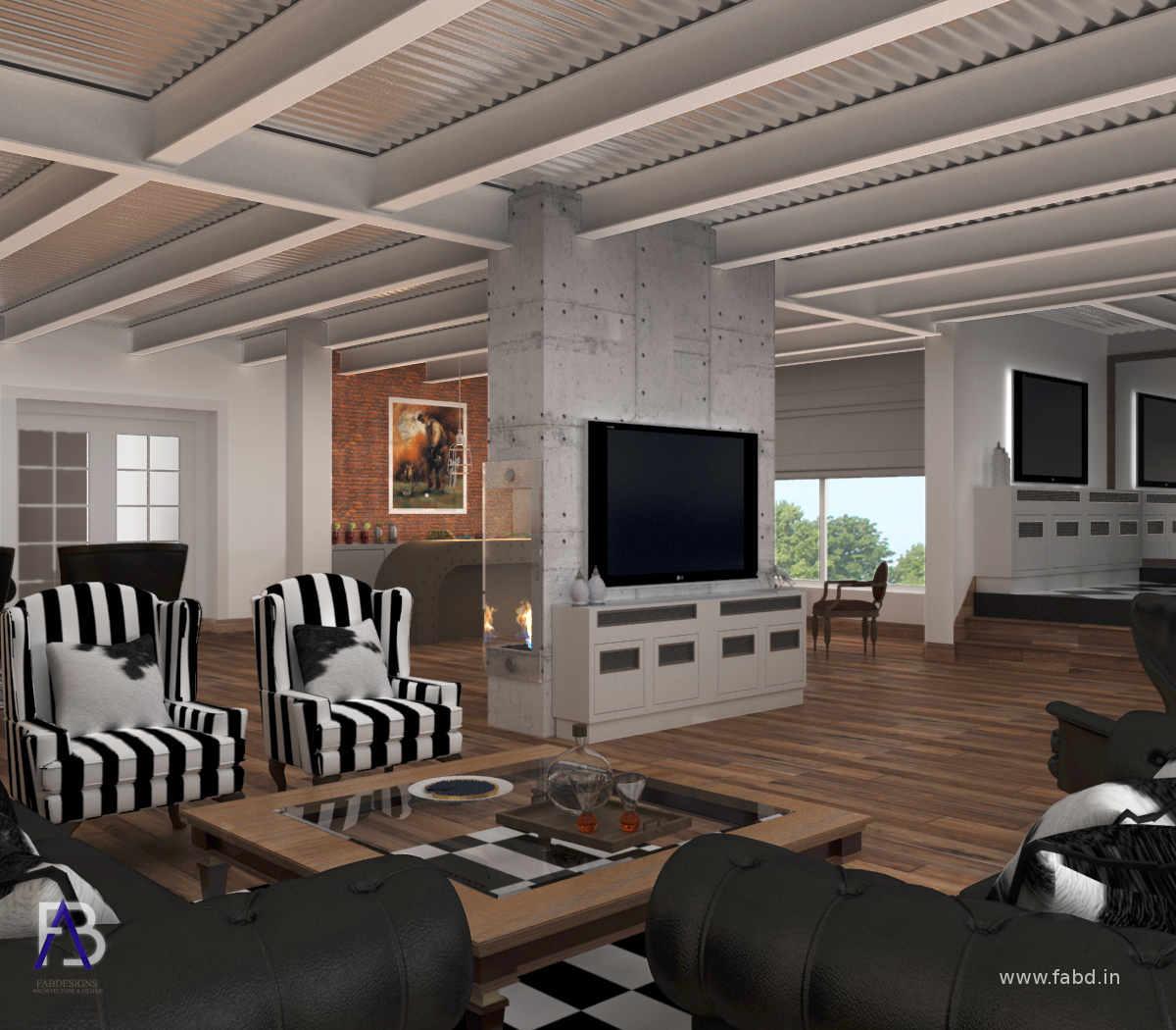 Lounge Area Interior Rendering