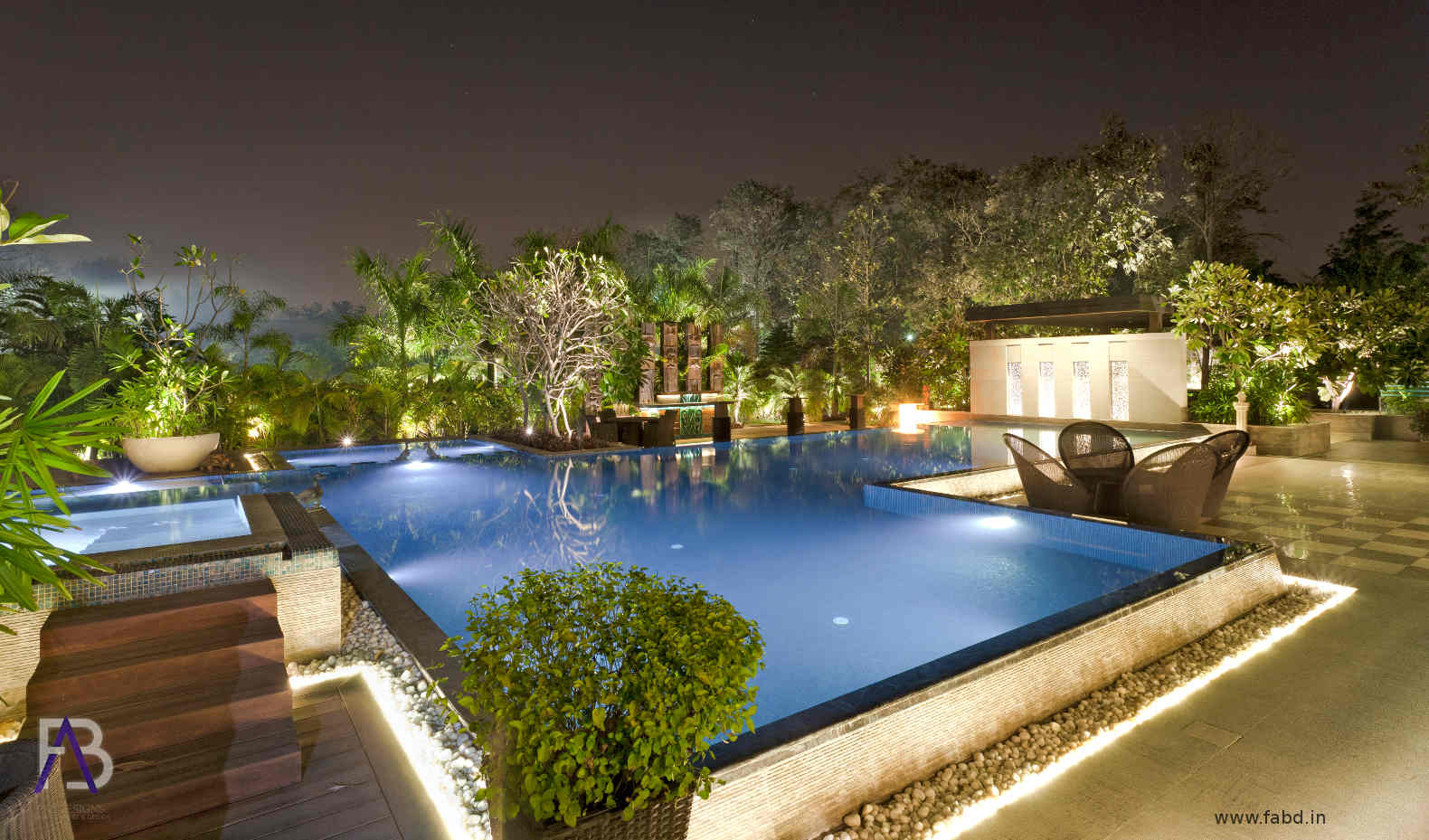 Swimming Area Night View External